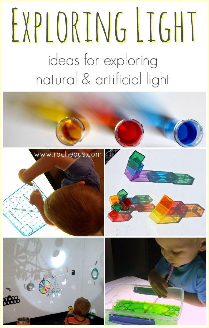 Exploring Light | ideas for exploring natural and artificial light