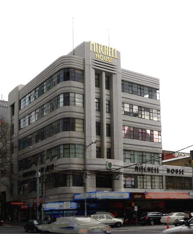 Art Deco Buildings from the 1930s in Melbourne, Victoria. Australia.