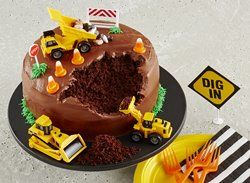 Construction Site Cake - for a construction or excavating themed party