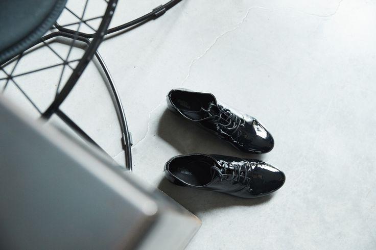 Chaussures femme derby vernis