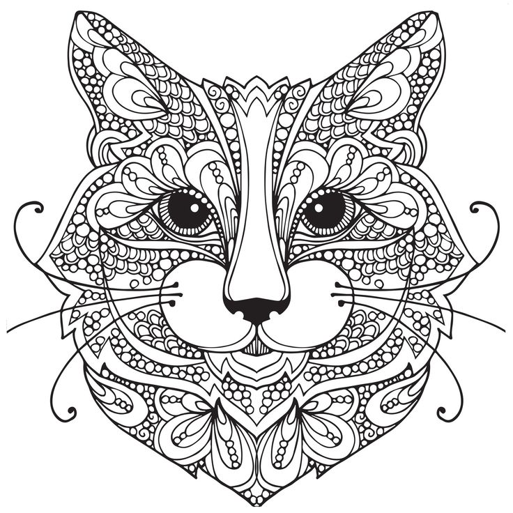 adult coloring pages cat 1