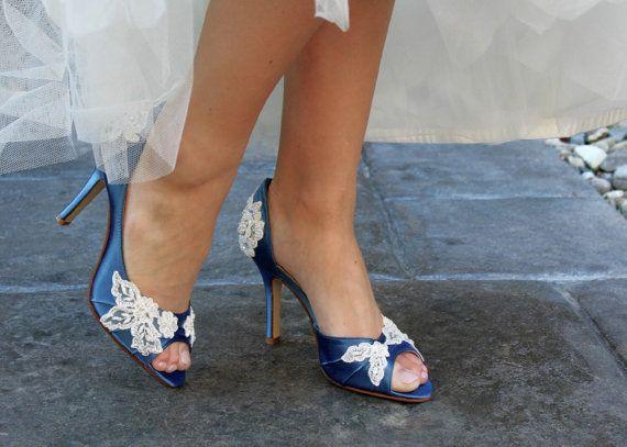 Hochzeit Schuhe Peep Toe niedrige Ferse und high von beccaandlouise