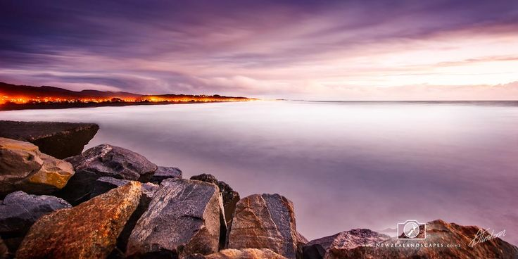 Fine art print of seascape with Greymouth coastline