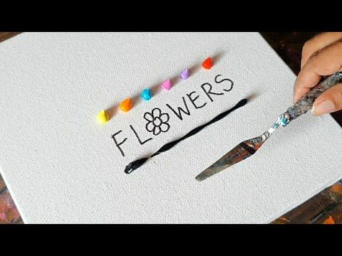 Flowers / Abstract Painting Demo / Acrylic & Spatula / Relax / Daily Art Therapy / Day # 0178 – YouTube