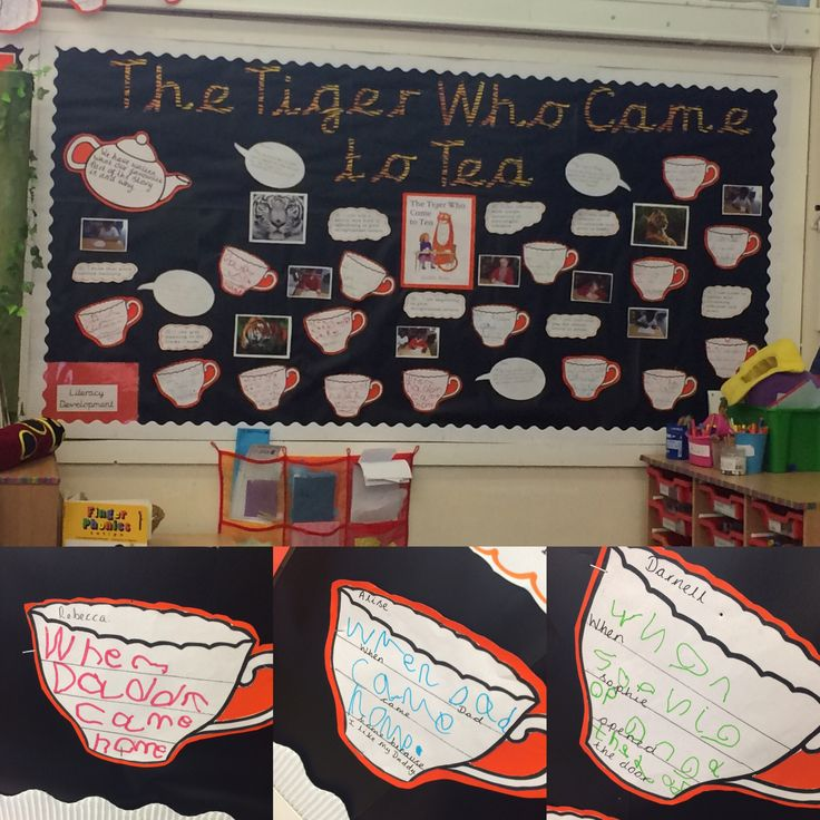 Tiger who came to tea #display #eyfs #board