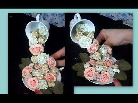 Como fazer CASCATA DE FLORES!!! para decoração - YouTube