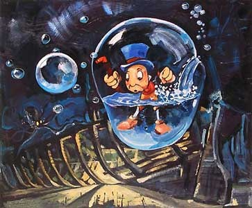 Pinocchio - Waterlogged - Jim Salvati - World-Wide-Art.com - $450.00 #Disney #JimSalvati