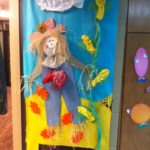 Fall door at school