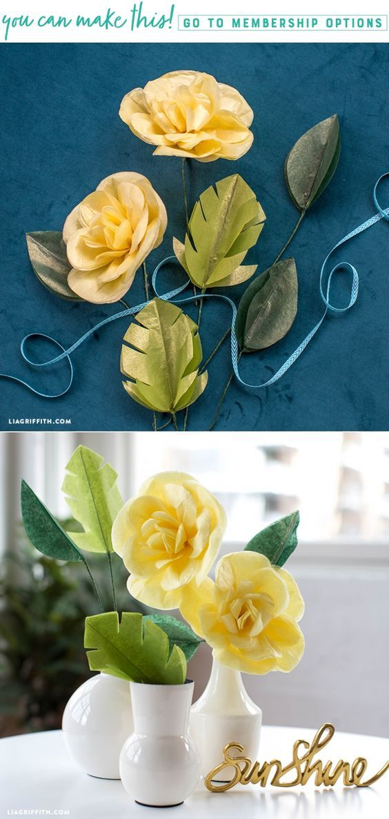Learn how to make a pretty tissue paper Cajun hibiscus flower - Lia Griffith - www.liagriffith.com #tissuepaper #paperflower #paperflowers #diyidea #diyideas #diyproject #diyprojects #diyinspiration #paper #paperart #madewithlia