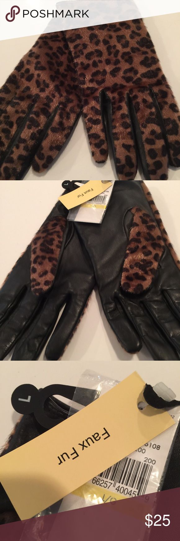 Leather and faux fur gloves size L This is a pair of van Hausen leather and faux fur gloves size large. They are brand-new with tags and never worn. They are listed as size large but I believe they could be worn by just about any size hand. no trades but reasonable offers considered Van Hausen Accessories Gloves & Mittens