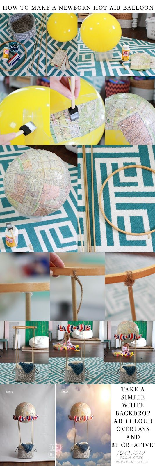 Crafting & Coffee Makes this Momma Happy: How To Make a Newborn Hot Air Balloon Photography ...