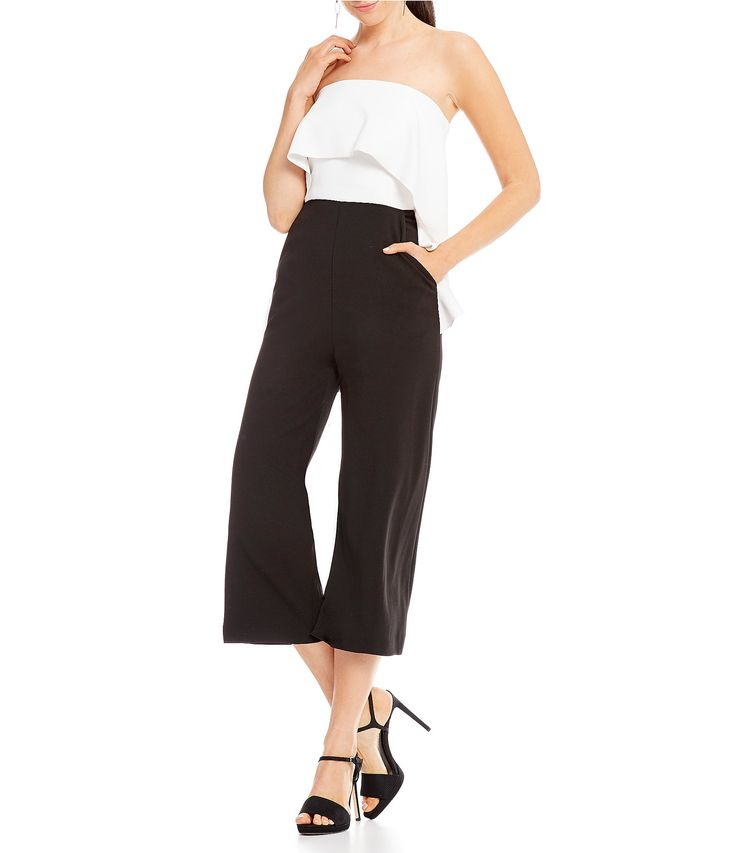 Shop for Donna Morgan Ruffle Strapless Jumpsuit at Dillards.com. Visit Dillards.com to find clothing, accessories, shoes, cosmetics & more. The Style of Your Life.
