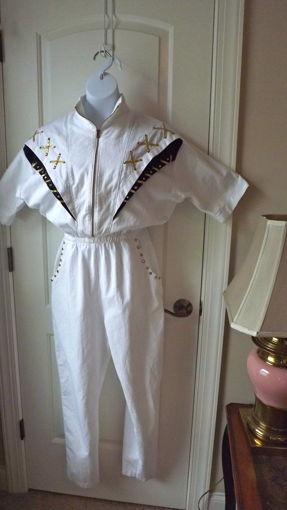 Nautical Jumpsuit from The 1980's by missionthrift on Etsy
