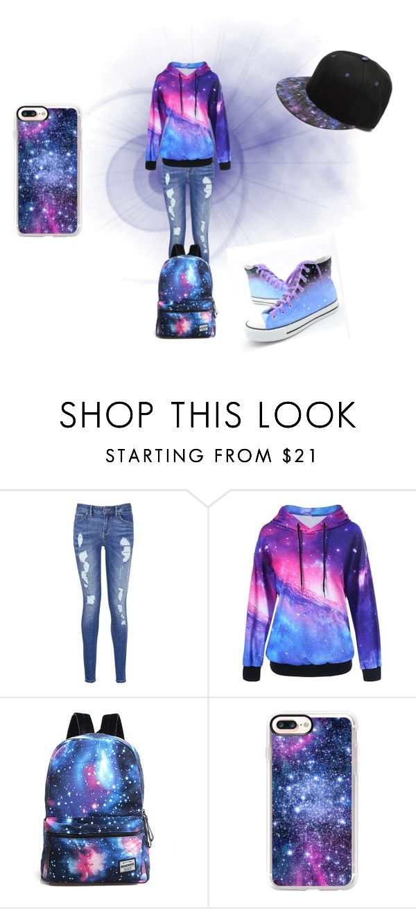 """""""galaxy"""" by mariapizzuto on Polyvore featuring moda, Tommy Hilfiger e Casetify"""