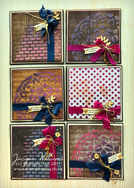 A Series of Vintage Cards using the New Embossing Paste!