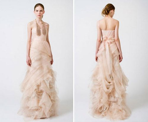 unconventional perhaps but his dreamy dress is oh so romantic!