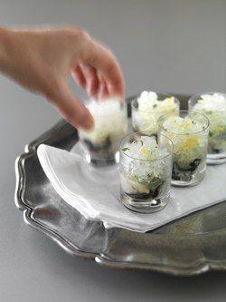 Oyster Shots with Vodka & Lemon Ice