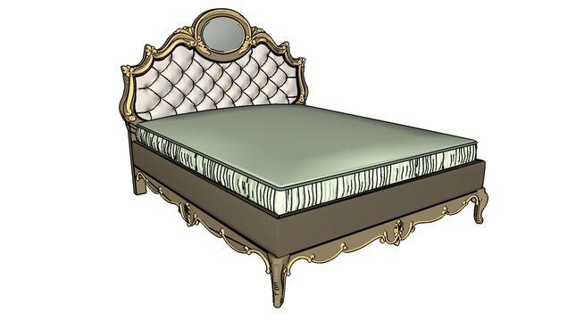 Large preview of 3D Model of bedroom, bed, bed furniture, interior, kamar tidur, kasur, tempat tidur, pillow, classic, highres