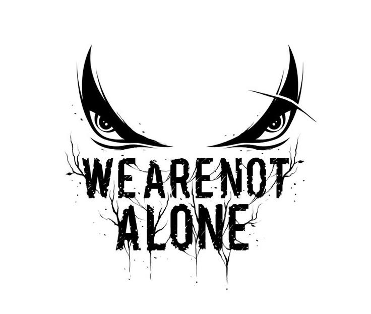 We Are Not Alone #WeAreNotAlone #blackandwhite #logo #bandlogo #music #metal