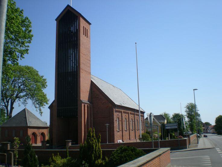 Asaa Church, Asaa kirke, Asaa, Denmark (Near Aalborg, Jutland). Photo: Kurt Thorleif Jensen.