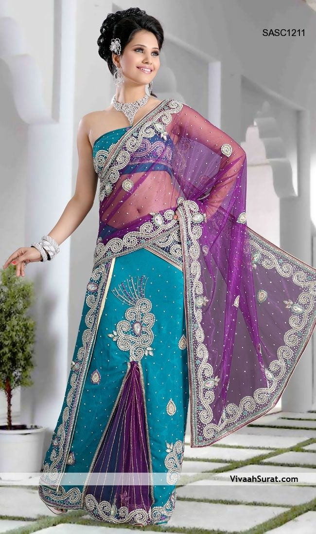 Pin by Era Gupta on Salwar suits | Lehenga style saree ...