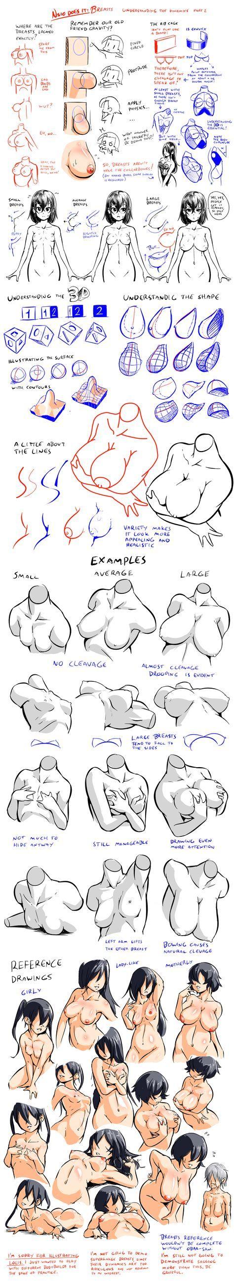 Tuto-Sketch: Estudio de la mujer. Pecho.