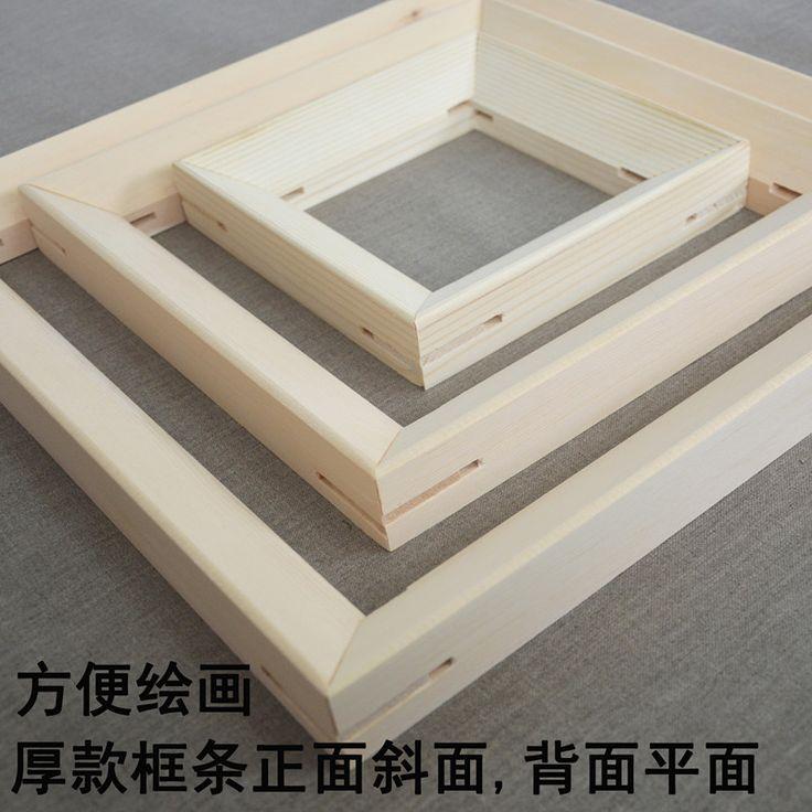 Внутри внутренняя рама холст картины формовочные формовочные Краска цифровой живописи с рамкой толщиной 3.7cm деревянная рама полосы - глобальная станция Taobao