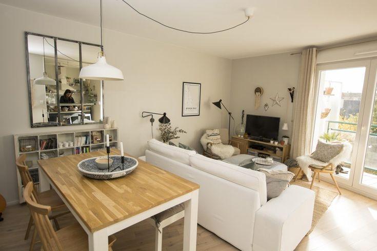 Décoration salon salle à manger cocooning, scandinave et moderne. Peinture Far…
