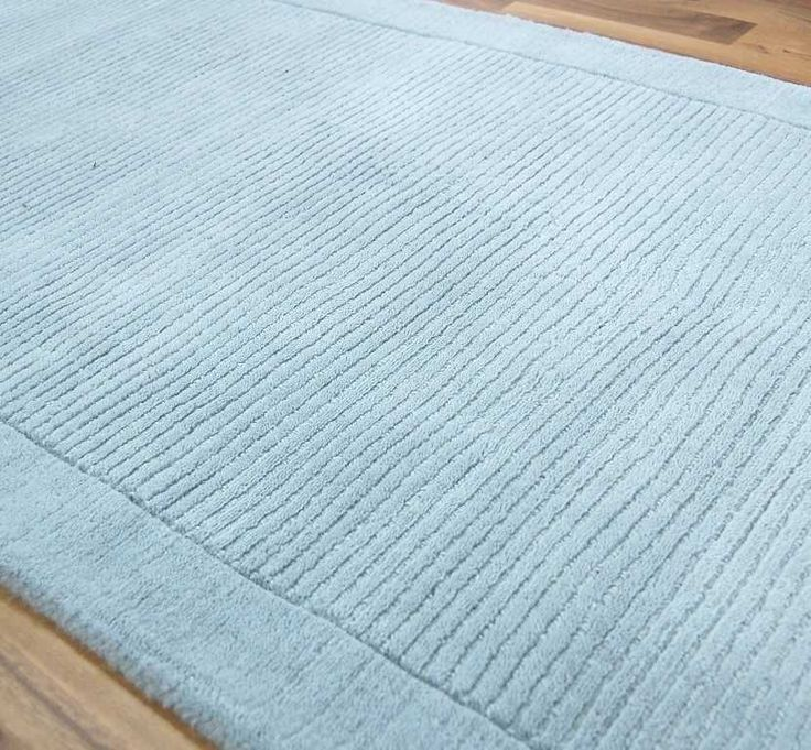 York Duck Egg Blue Hall Runner Rugs | Modern Rugs