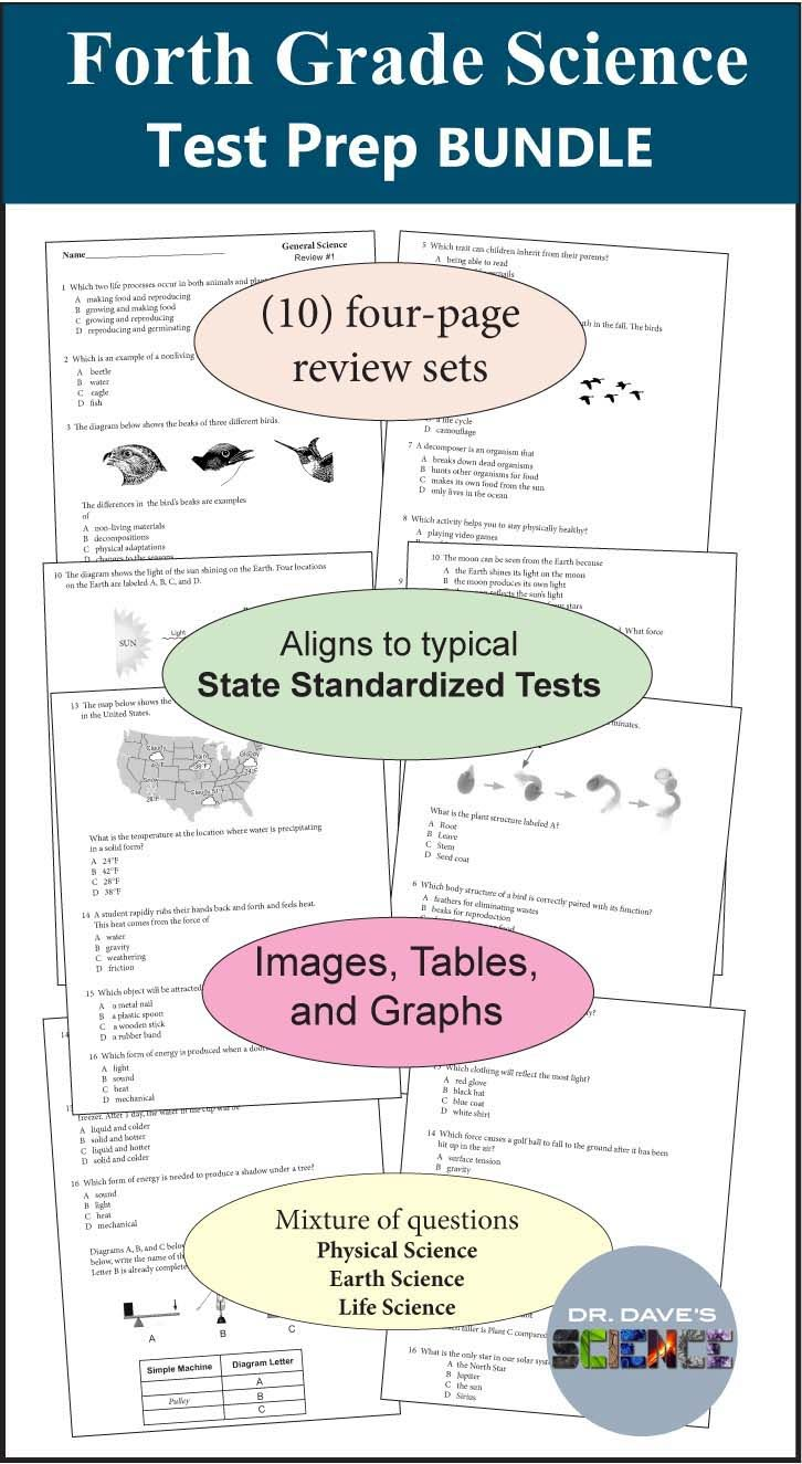 4th And 5th Grade Science Test Prep Bundle All Things Science