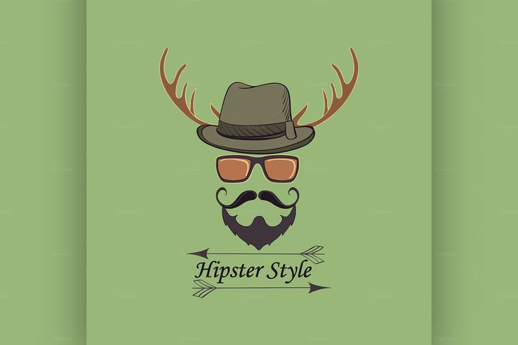 Vector Hipster style logo by Netkoff on Creative Market
