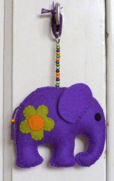 Felt elephant.