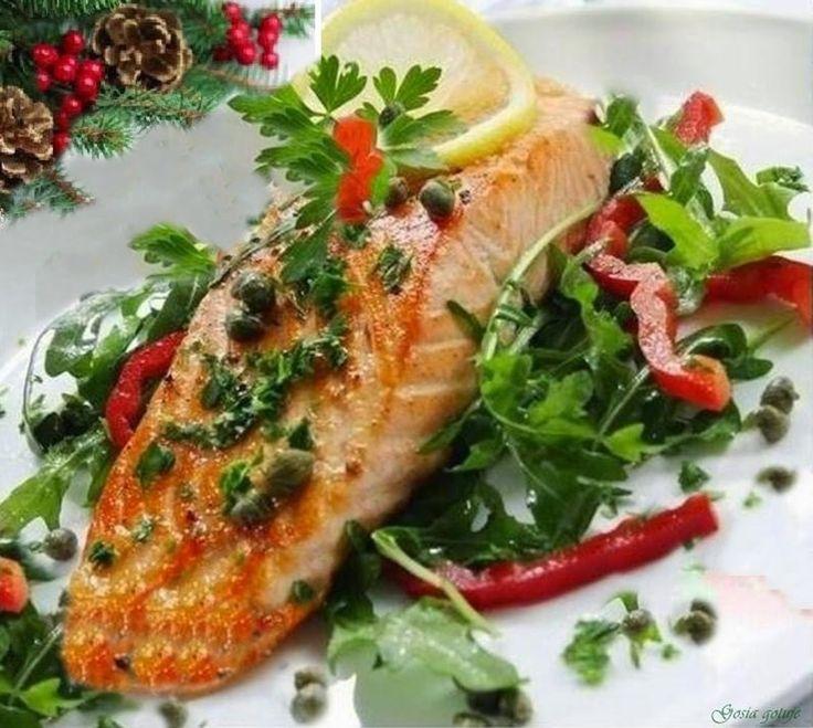 Gosia gotuje: Łosoś  z grilla na sałatce z rukoli