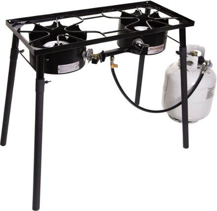 Camp Chef Pioneer 2-Burner Camp Stove Black