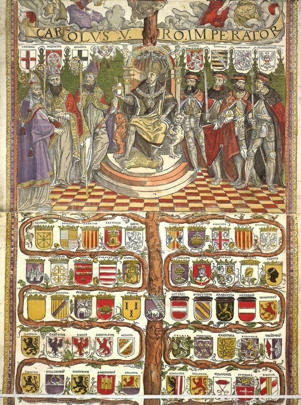 Armes i Títols de Carles I de Catalunya i V d'Àustria. Holy Roman Emperor Charles V died in 1558. Here's his family tree