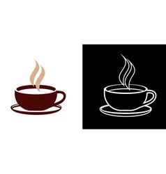 Vector image of Two cups of coffee Vector Image, includes black, white, background, icon & grey. Illustrator (.ai), EPS, PDF and JPG image formats.