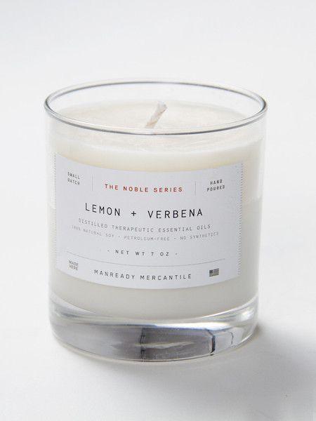 Manready Mercantile Lemon & Verbena Candle SWORDS-SMITH
