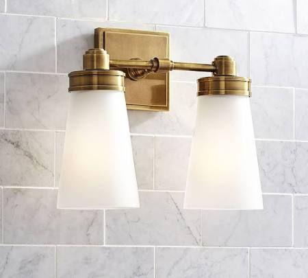 New brushed brass light fixtures Google Search Badezimmer WandlampenBadezimmer