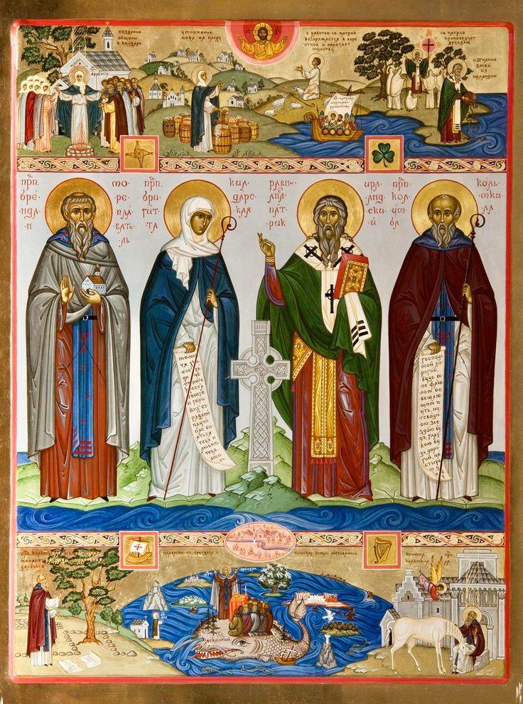 Sts. Of Ireland: St. Brendan, St. Brigid, St. Patrick, St. Columba