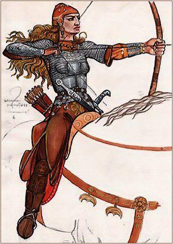 одежда сарматские женщины - Google Search