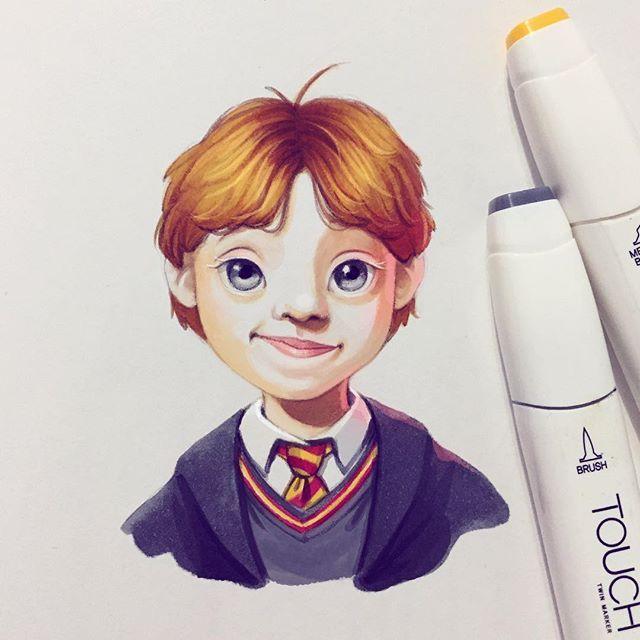 #Ron Weasley drawing