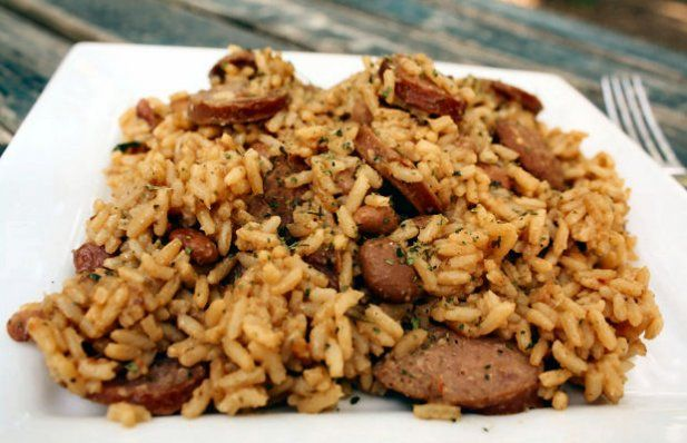How to make Portuguese sausage rice.