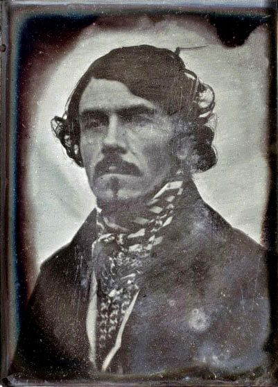 Portrait of Eugène Delacroix, Frépillon, 1842 -by Léon Riesener