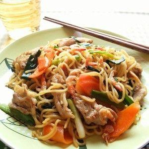 上海風焼きそば☆+by+snow+kitchen☆+さん+ +レシピブログ+-+料理ブログのレシピ満載! 少し甘めの醤油味な焼きそば☆  美味しくってお箸が止まりません♪