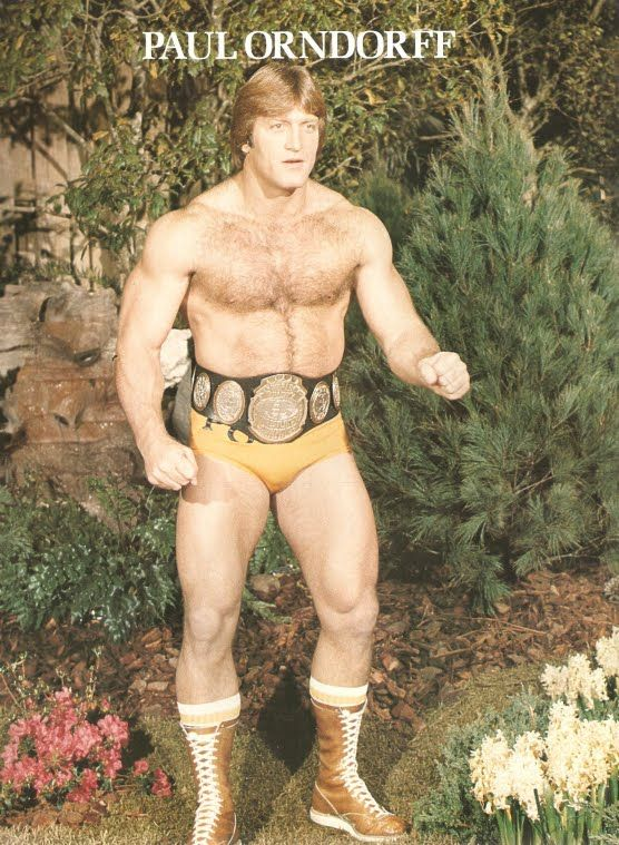 """Paul Orndorff in 1977. Yet another wrestler who found prominence at WWF. Prior to becoming """"Mr. Wonderful"""", Orndorff had some classic matches in the NWA territories feuding with the giant Ernie Ladd"""