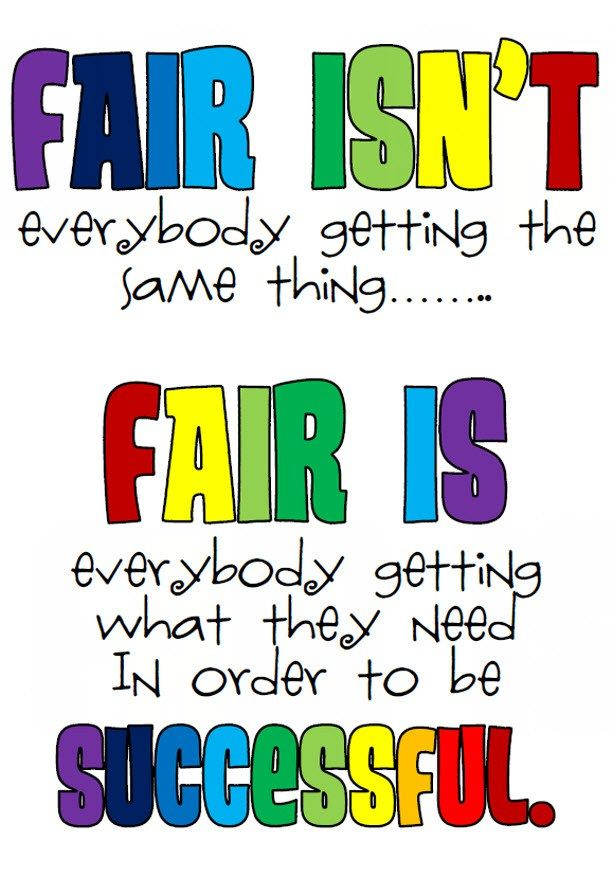 There are things that come easy for some, while others have to work twice as hard in order to succeed! When we confuse fairness with equality we marginalize and victimize the very students who need us most. Life isn't fair! Quit whining, move forward and get over it!! Achieve success with your talents and stop comparing yourself to others.