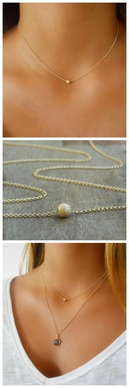 A beautiful, delicate everyday bead necklace. Perfect to wear alone or for layering with more necklaces.