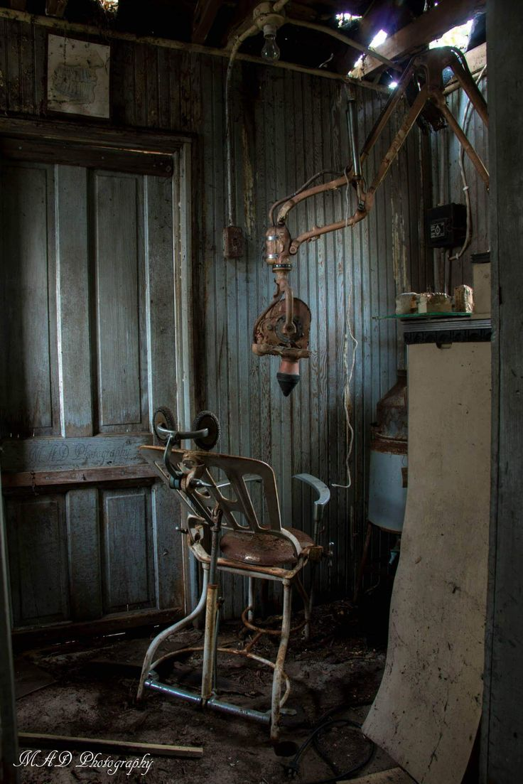Abandoned dentistry office in a barn in Wisconsin
