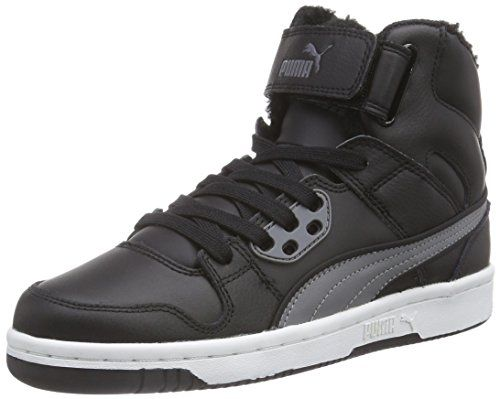 Puma Puma Rebound Street Fur, Unisex Adults' Hi-Top Sneakers, Black (black-steel  Gray UK EU)