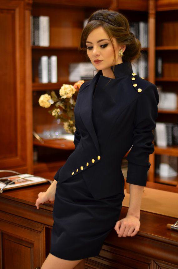 Milla Anzug dunkelblau von LauraGalic auf Etsy